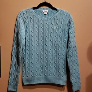 Lily Pulitzer Blue Cable Knit Sweater